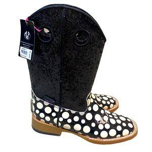 Blazin Roxx polka dot sequin cowboy boots